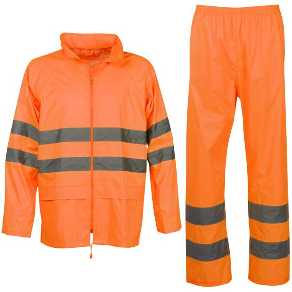 Impermeabile Alta Visibilità Emergenza Sanitaria Abbigliamento E Accessori Uomo: Abbigliamento